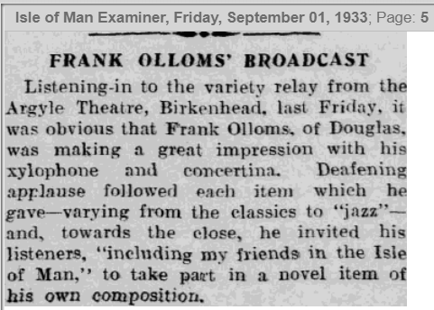 1933 Sept Examiner Olloms Broadcaset review.PNG